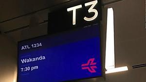 Atlanta airport is now offering flights to Wakanda -- sort of
