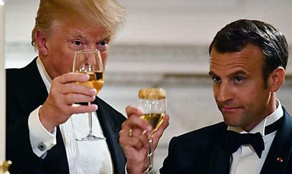 Why Macron couldn't keep his hands off Trump