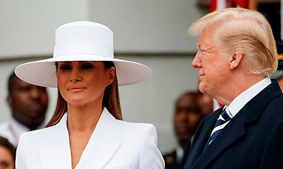 About THAT hat Melania Trump is wearing