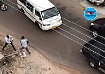 Two men trade blows on Dzorwulu streets